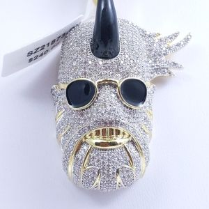 Icy Horned Man Pendant